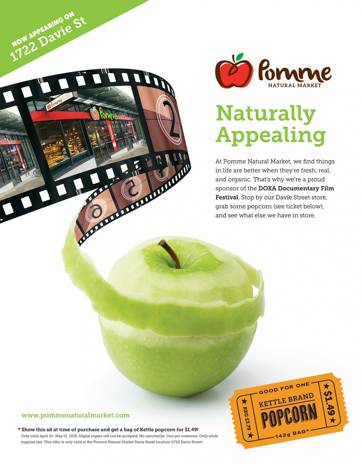 Pomme Natural Markets DOXA ad