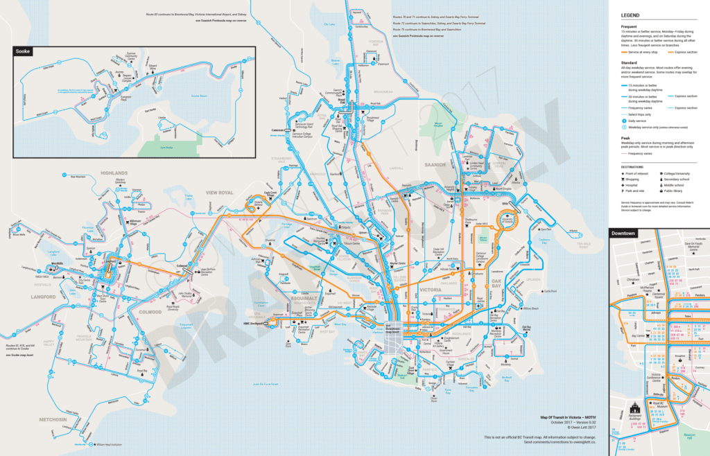 Victoria Frequent Transit Map – Inside