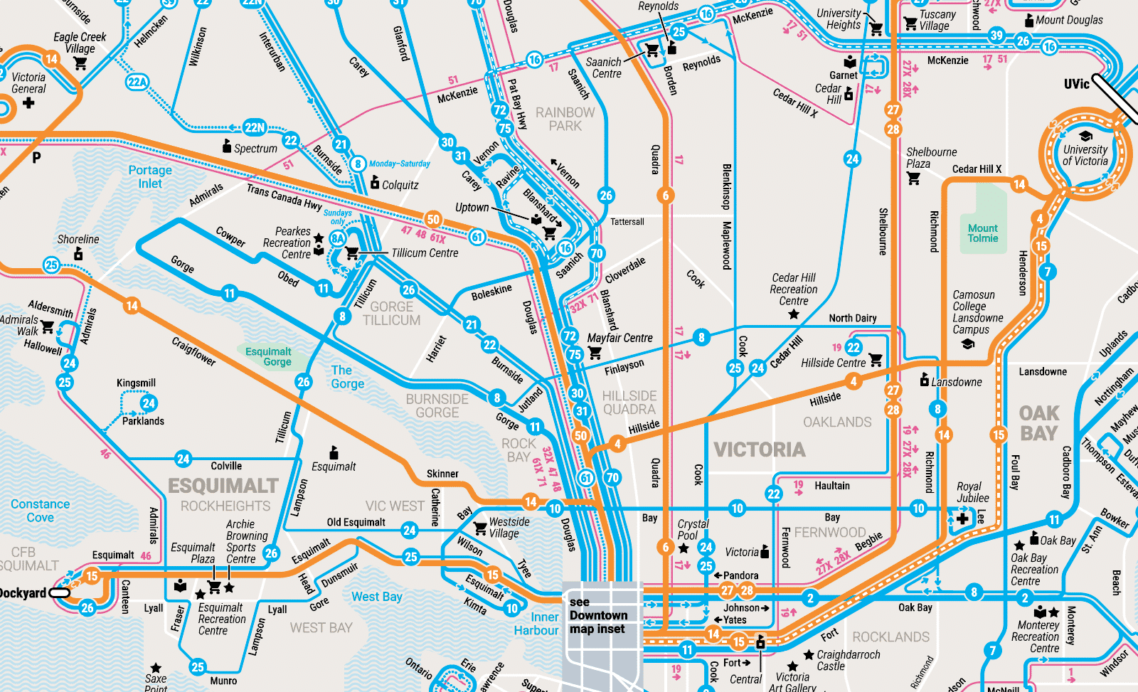 Victoria Frequent Transit Map – Detail